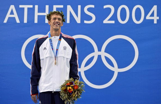 Culture Sport Athènes 2004 Michael Phelps